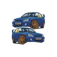 Sticker Masters Subaru Basık Araç Sticker
