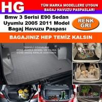 Bmw 3 E90 2005 2011 Gri Bagaj Havuzu Paspası 38619