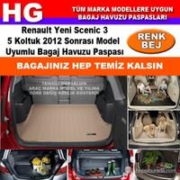 Renault Yeni Scenic 3 2012 Sonrası Bej Bagaj Havuzu Paspası 39022