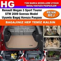 Megan 3 Sport Tourer Stw 2009 Sonrası Bej Bagaj Havuzu Paspası 39031