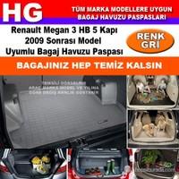 Renault Megan 3 Hb 2009 Sonrası Gri Bagaj Havuzu Paspası 39040