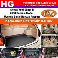 Skoda Yeni Süper B 2008 Sonrası Siyah Bagaj Havuzu Paspası 39084