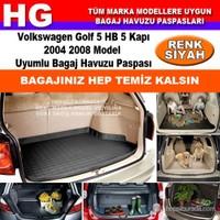Golf 5 Hb 2004 2008 Siyah Bagaj Havuzu Paspası 39131