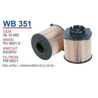 Wunder OPEL Astra J Kasa Mazot Filtresi OEM NO: 5818085