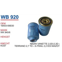 Wunder Nissan Terrano 2.7 Td Mazot Filtresi Oem No:16403-59E00