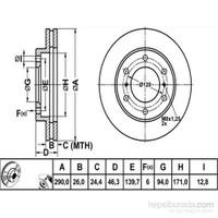 Bosch - Fren Diski Ön [290 / 26-24,4 Mm], Hava Kanallı (Mitsubishi Pajero) - Bsc 0 986 478 990