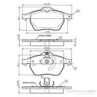 Bosch - Fren Balatası Ön Opel Vectra B 00 > - Bsc 0 986 Tb2 017