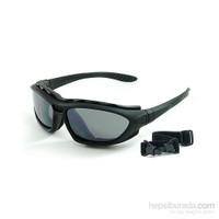 Prosev 6002 Motosiklet Gözlüğü + Lastikli + Sarı Yedek Camlı
