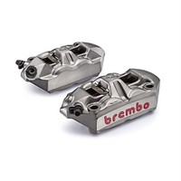 Brembo 100 Mm Radial M4 Monoblok Kaliper Kiti Gümüş