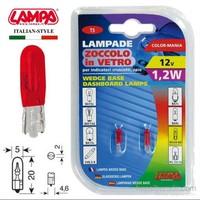 Lampa Kırmızı 1,2W T5 Dipsiz Gösterge Ampulü 2 Ad. 58358