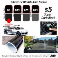 Schwer 100 Cm x 60 Mt Rulo Cam filmi %5 Süper Dark Black-8377
