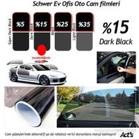Schwer Cam Filmi 50 Cm x 6 Metre Dark Black-( 3 m2) Çekme Aparatlı