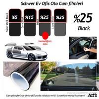Schwer ÇİZİLMEZ Cam Filmi 50 Cm x 6 Metre % Black-( 3 m2) Çekme Aparatlı