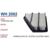 Wunder Honda Civic 1.6 Dtec 2.2 Dtec Hava Filtresi Oem No:17220-R3l-G01