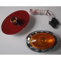 Dreamcar Yan Sinyal Lambası Krom Oval Sarı Camlı 2'li 3548502