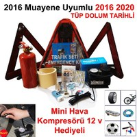 Trafik Seti 2016 Muayene Uyumlu Mini Kompresör Hediyeli