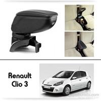 Schwer Renault Clio 3 Koltuk Arası SİYAH Kol Dayama Kolçağı-8443