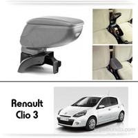 Schwer Renault Clio 3 Koltuk Arası GRİ Kol Dayama Kolçağı-8491