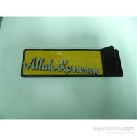 Speed Allah Korusun Sticker 13x2cm Gri