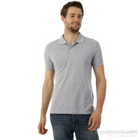 Kappa 1 302LQV0 77ML Erkek Regular Fit Polo T-Shirt Gri Melanj