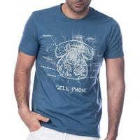 Scorp Cp-9001 Cell Phone Indigo Baskılı Erkek Tişört