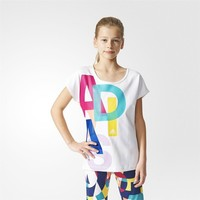 Adidas Ak2054 Yg W F Logo Tee Çocuk Tişört