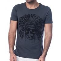 Scorp In-9000 Indian Füme Baskılı Erkek Tişört