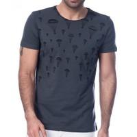Scorp Pa-9000 Parachute Füme Baskılı Erkek Tişört
