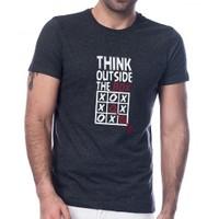Scorp To-9000 Think Outside Koyu-Antrasit Baskılı Erkek Tişört