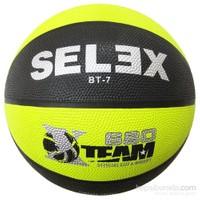 Selex Bt7 Neon Kauçuk 7 No Basketbol Topu Siyah-Sarı