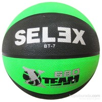 Selex Bt7 Neon Kauçuk 7 No Basketbol Topu Siyah-Yeşil