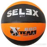 Selex Bt7 Neon Kauçuk 7 No Basketbol Topu Siyah-Turuncu