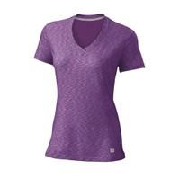 Wilson Striated Cap Sleeve Kadın Tenis Tişortu