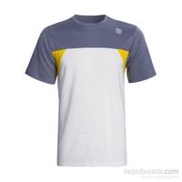Wilson Pure Battle Crew White/Grey Erkek Tenis Kıyafeti