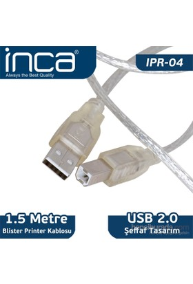 Inca IPR-04 USB 2.0 1.5m Yazıcı Kablosu (Blister)