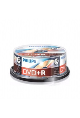 Philips DVD(+R) 4,7GB 16X 25'li Cakebox