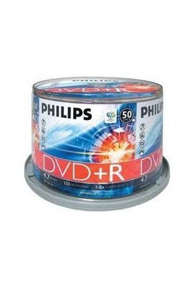 Philips DVD(+R) 4,7GB 16X 50'li Cakebox