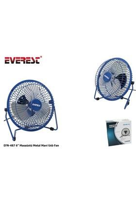 Everest Efn-487 6` Masaüstü Metal Mavi Usb Fan