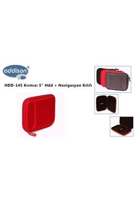 Addison Hdd-145 Kırmızı 5` Hdd + Navigasyon Kılıfı