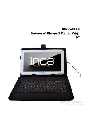 """Inca IDKK-099S Darkshark 9"""" Siyah Tükçe Klavyeli Tablet Kılıfı"""