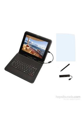 Mobee 9.7'' Mikro USB + Ekran koruyucu+4 lü USB Hub + Kalem Klavyeli Tablet Kılıfı