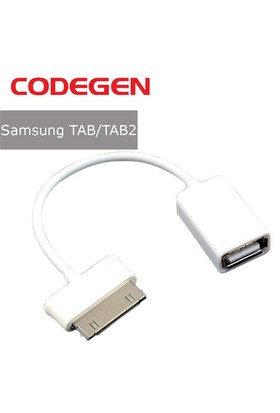 Codegen Samsung Galaxy TAB/TAB2 USB Çevirici Beyaz OTG Kablo