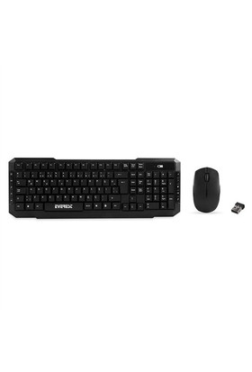 Everest Km-510 Kablosuz Q Multimedia Klavye + Mouse Set Siyah
