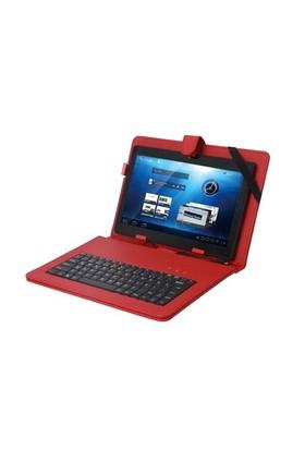 Everest Kb-Tab07 Kırmızı 7` Micro Usb Türkçe Q Klavye + Tablet Pc Kılıfı