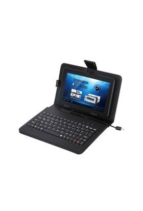 Everest Kb-Tab07 Siyah 7` Micro Usb Türkçe Q Klavye + Tablet Pc Kılıfı