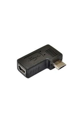 Ti-Mesh Usb 2.0 Mini A 5 Pin Female To Micro B 5Pin Male Left Angle Adapter Convertor