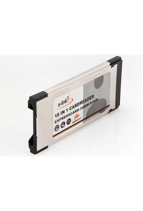 S-Link Sl-Ex16 Pcmci Express 18 İn 1 Kart Okuyucu Kart
