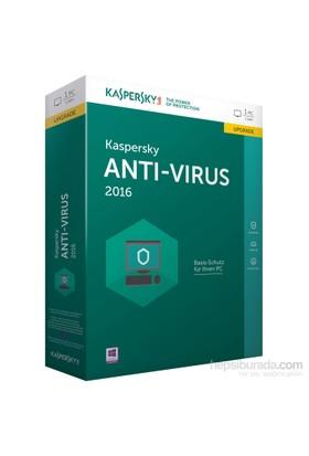 Kaspersky Antivirüs 2016 4 Kullanıcı 1 Yıl