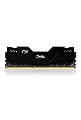 Team 16GB (2x8GB) 2400MHz DDR3 Overclocking Dark Series Gaming Soğutuculu Dual-Channel Ram Bellek (TM3D240082BLK)