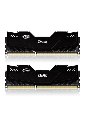 Team 8GB (2x4GB) 2400MHz DDR3 Overclocking Dark Series Gaming Soğutuculu Dual-Channel Ram Bellek (TM3D240042BLK)
